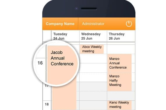 conference booking made easy